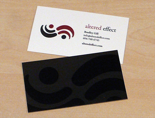 the Altered Effect businesscard